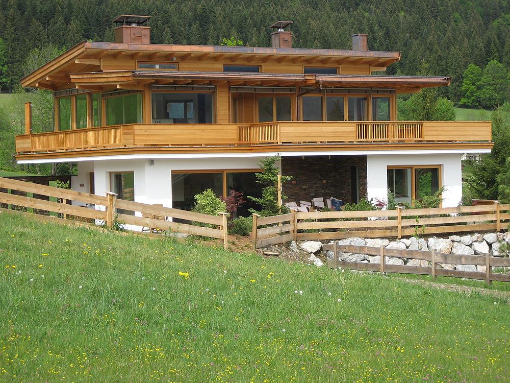 Moderner holzbau satteldach  Neubau - Holzbau Mitterer